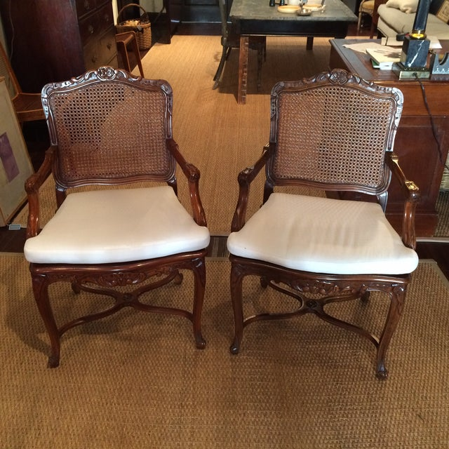 Image of 20th C. French Fauteuils - Pair