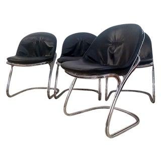 Gastone Rinaldi Chrome Dining Chairs - Set of 4