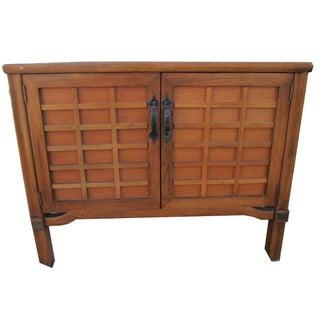 Modernist Storage Side Cabinet Table