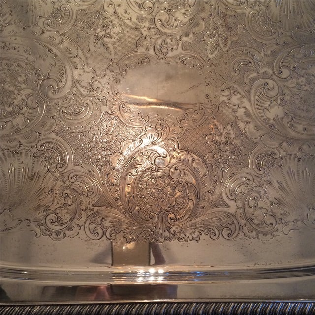 Silverplate Serving Tray - Image 9 of 11