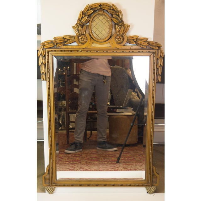 Antique Carved Wood Beveled Italian Mirror - Image 2 of 4