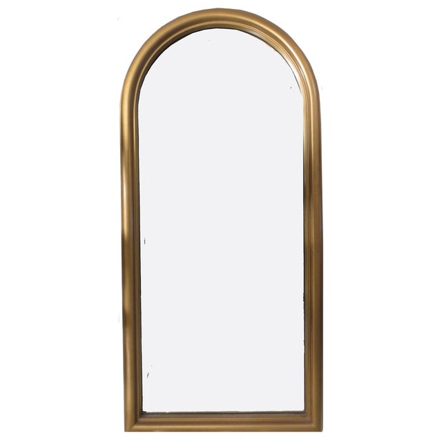 Image of Modern Gilt Arched Mirror