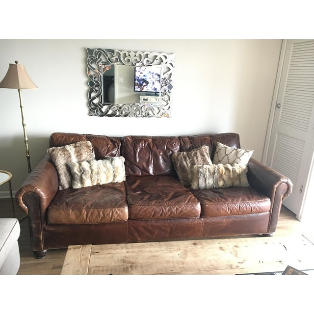 Restoration Hardware Original Lancaster Leather Sofa