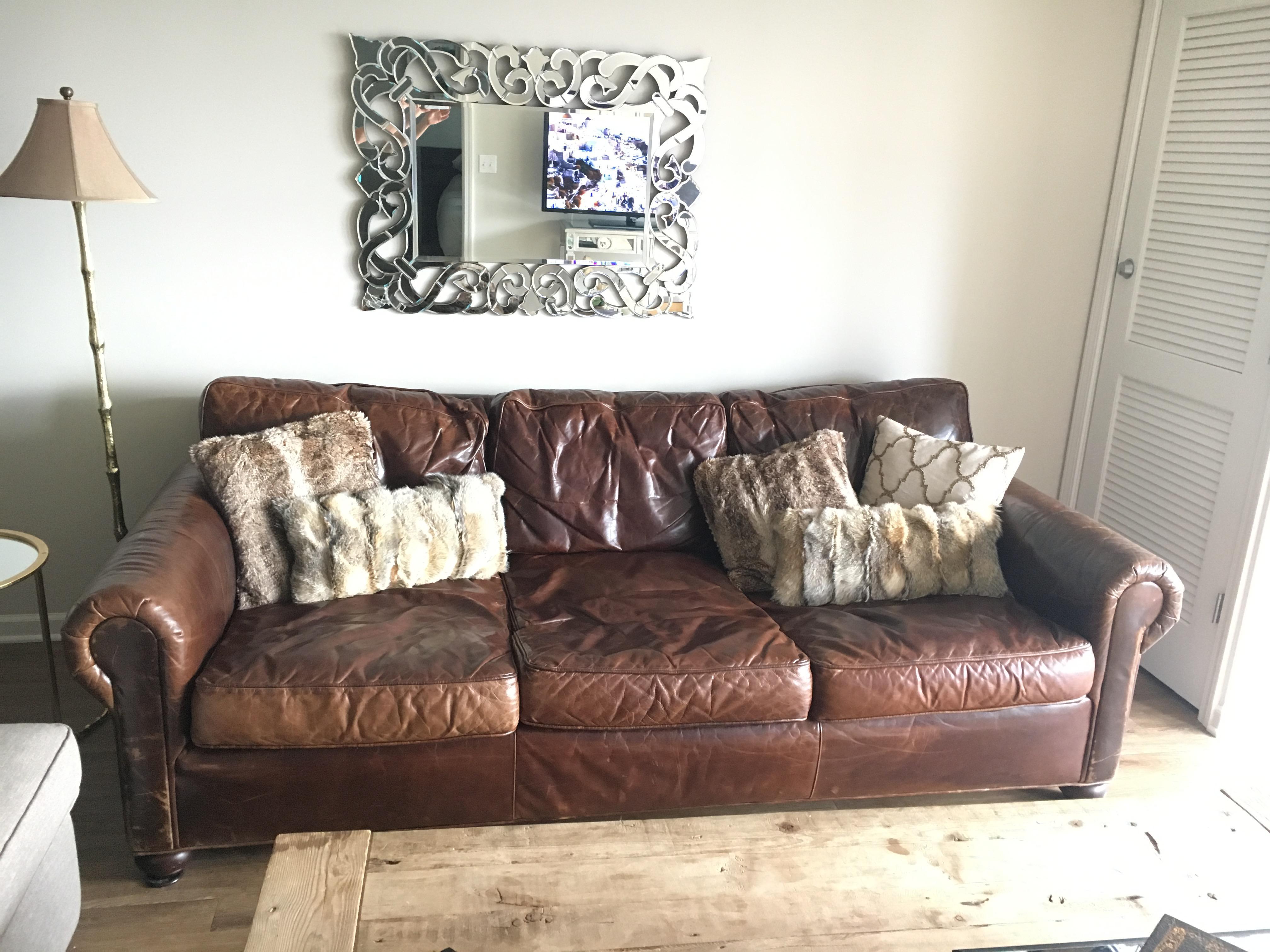 Restoration Hardware Original Lancaster Leather Sofa   Image 3 Of 6