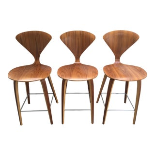 Cherner for DWR Laminated Plywood Counter Stools - Set of 3