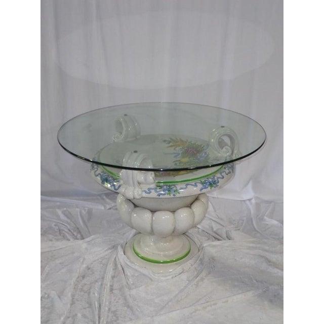 Italian Della Robbia Style Patio Table - Image 5 of 6