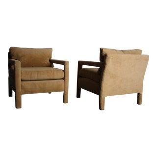 Milo Baughman for Thayer Coggin Club Chairs - Pair