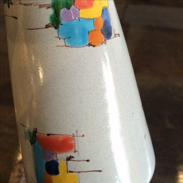 Deruta Italian Pottery Tall Vase - Image 7 of 8