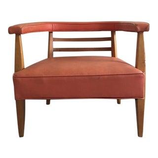 Mid-Century Modern Style Leather Armchair