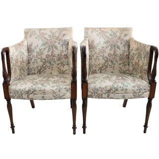 Southwood Silk Armchairs - A Pair