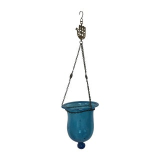 Antique Moroccan Turquoise Bell Lantern