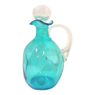 Bischoff Turquoise Hand Crafted Decanter