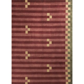 "Contemporary Hand Knotted Wool Rug - 8'2"" x 10'3"""