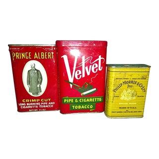 Vintage Tobacco Tins- Set of 3
