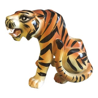Mid-Century Crouching Tiger Cache Pot
