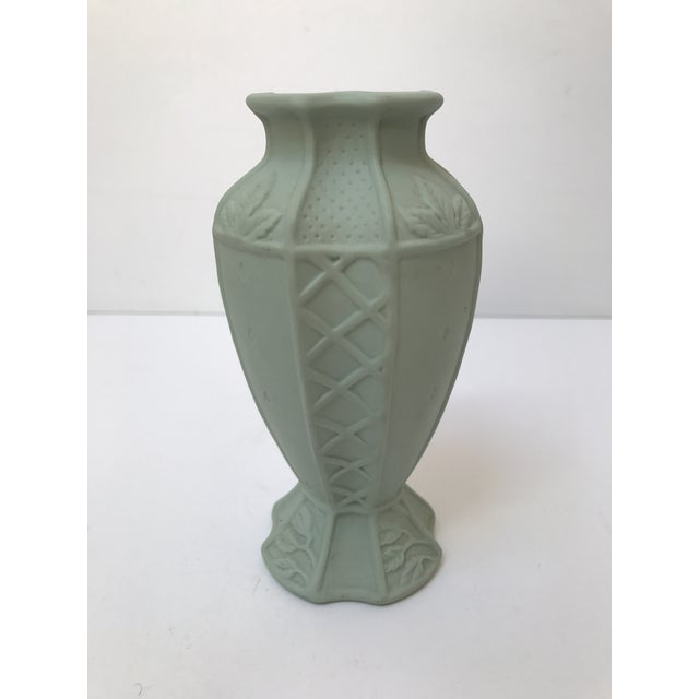 Fitz and Floyd Matte Green Candlestick Holder - Image 3 of 6