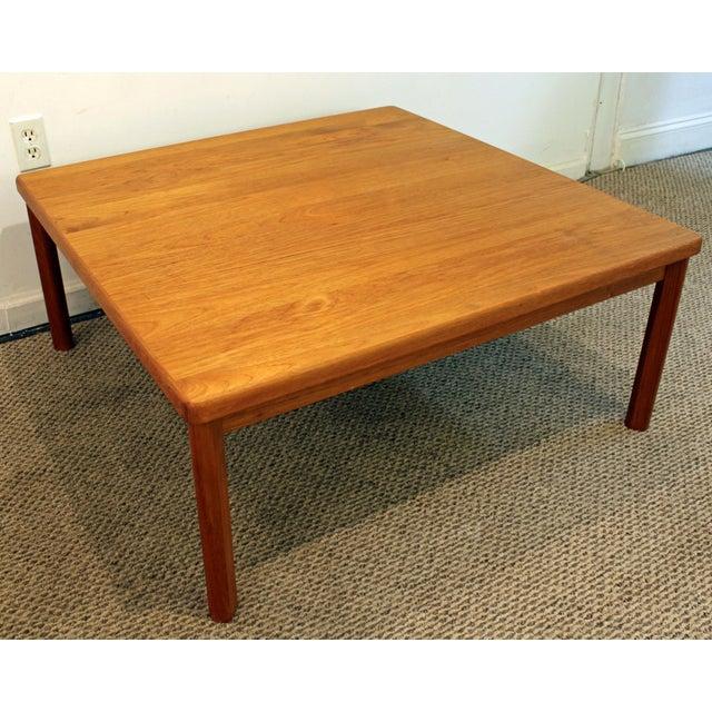 Danish Mid Century Teak Coffee Table 1 Small: Mid-Century Danish Modern Square Teak Coffee Table