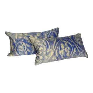 Silk Velvet & 24k Gold Flecked Pillows - A Pair