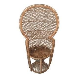 1970s Bohemian Peacock Chair
