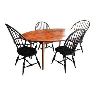 D.R. Dimes Chairs & James Dew Farmhouse Table