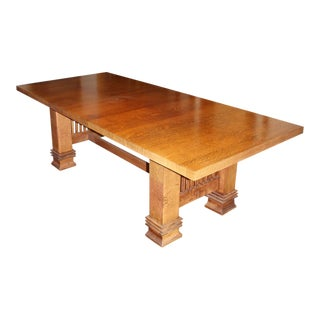 Vintage Handmade Prairie Style Dining or Conference Table