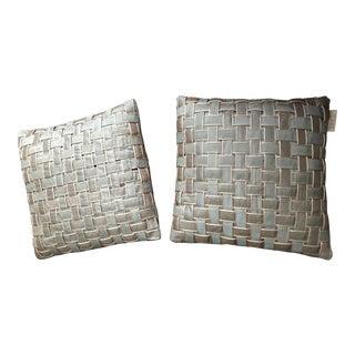 Aqua Blue Edie Inc Ribbon Wave Pillows - a Pair