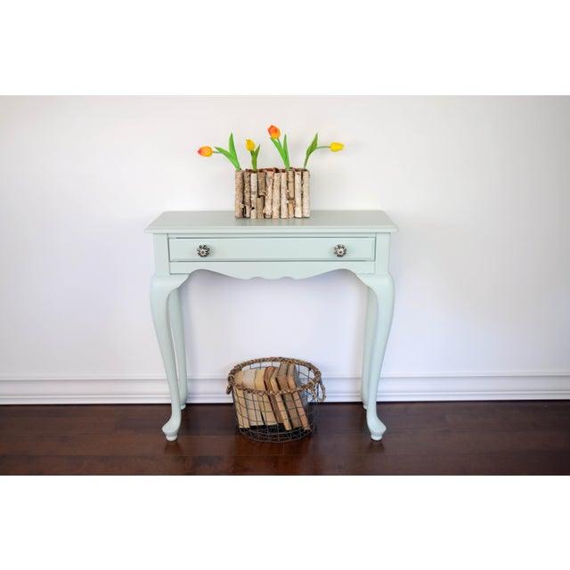 Green Foyer Table : Green mint entryway table chairish
