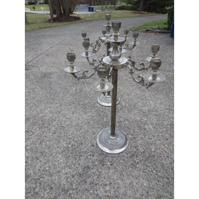 Mid-Century Silverplated Candelabras - A Pair - Image 7 of 7