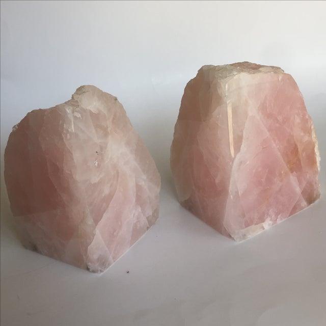 Rose Quartz Bookends - A Pair - Image 9 of 10
