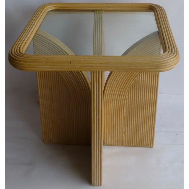 Mid-Century Modern Split Reed Table - Image 2 of 9