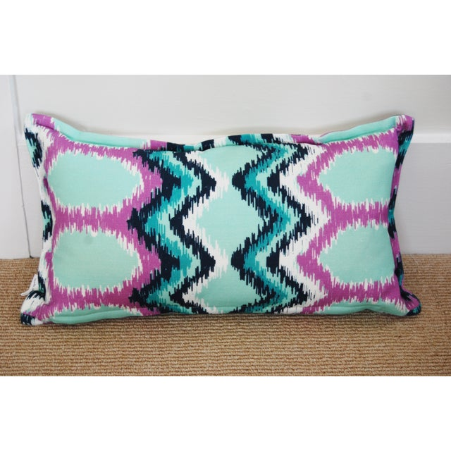 "Image of ""Dynasty"" Flame Stitch Lumbar Pillow"