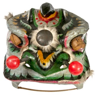 Vintage Chinese Paper Maché Lion Costume Head