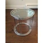 Image of Milo Baughman Chrome Nesting Tables - Set of 3