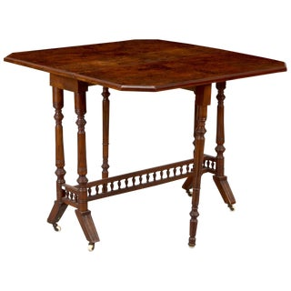 Belgian Walnut Drop-Leaf Table