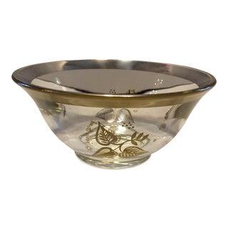Vintage Crystal & Gold Georges Briard Nut Bowl