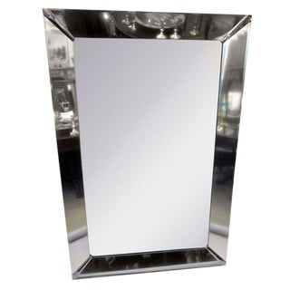 Large Mid-Century Chrome Mirror
