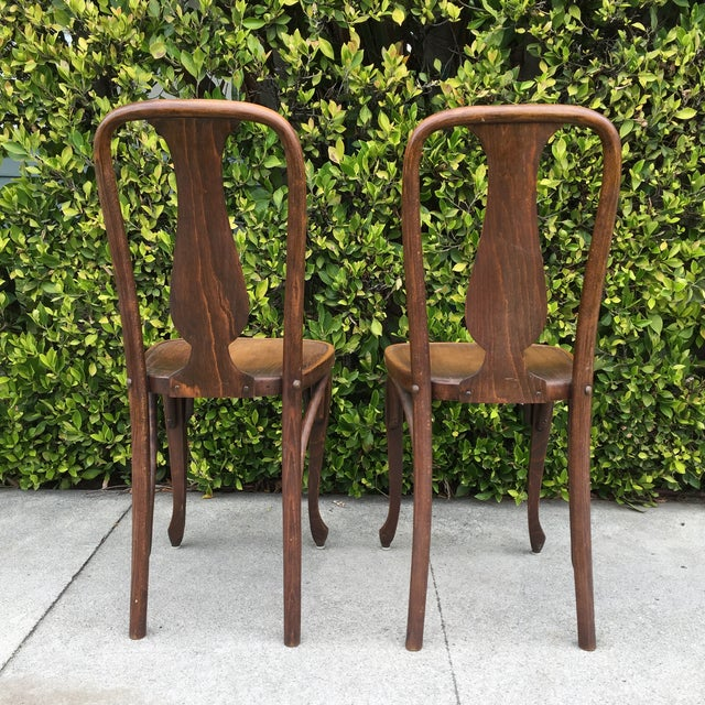J & J Kohn Austrian Bistro Chairs - A Pair - Image 5 of 7