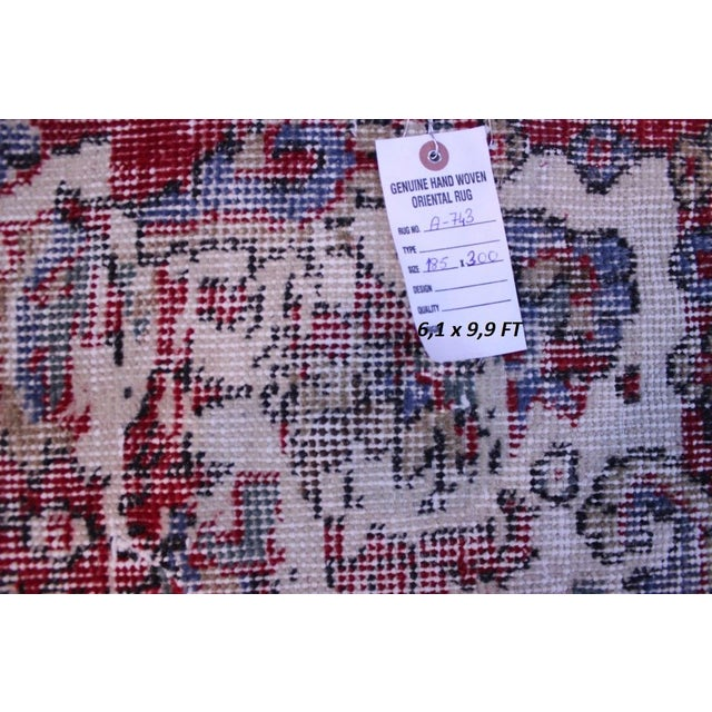 "Distressed Turkish Rug Decorative Rug, 6'1"" X 9'8"" - Image 8 of 8"