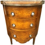 Image of 1850's Entry Table with Jasper Faced Pull Handle