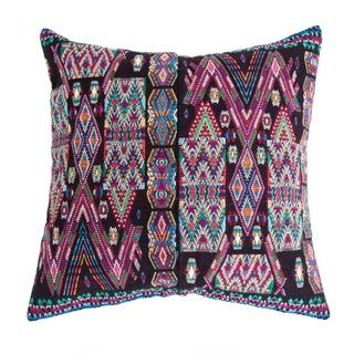 Vintage Black Guatemalan Pillow Cover