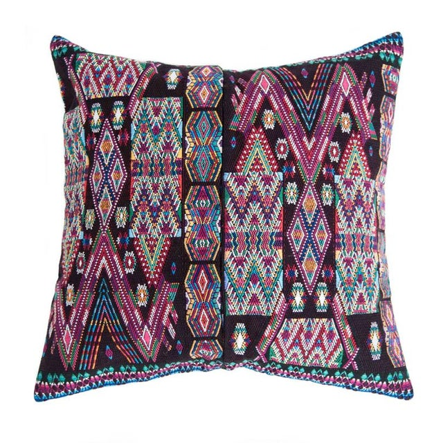 Vintage Black Guatemalan Pillow Cover - Image 1 of 4