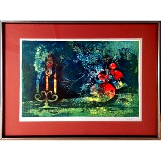 Framed Still Life Lithograph by Hoi Lebadang