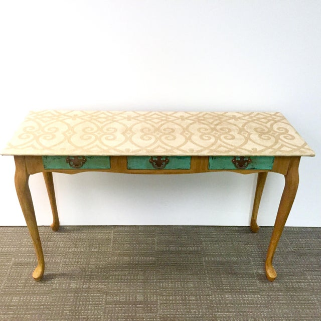 Hand-Painted Sofa Table - Image 2 of 7