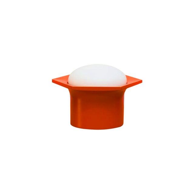 Raak Vintage '70s Hexagon Orange & Milk Glass Lamp - Image 1 of 7