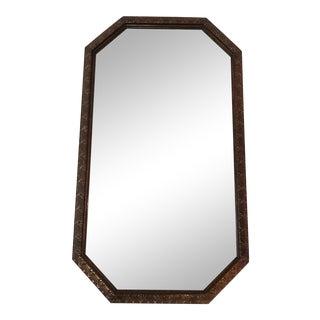 Antique Mirror in Beveled Wood Carved Frame