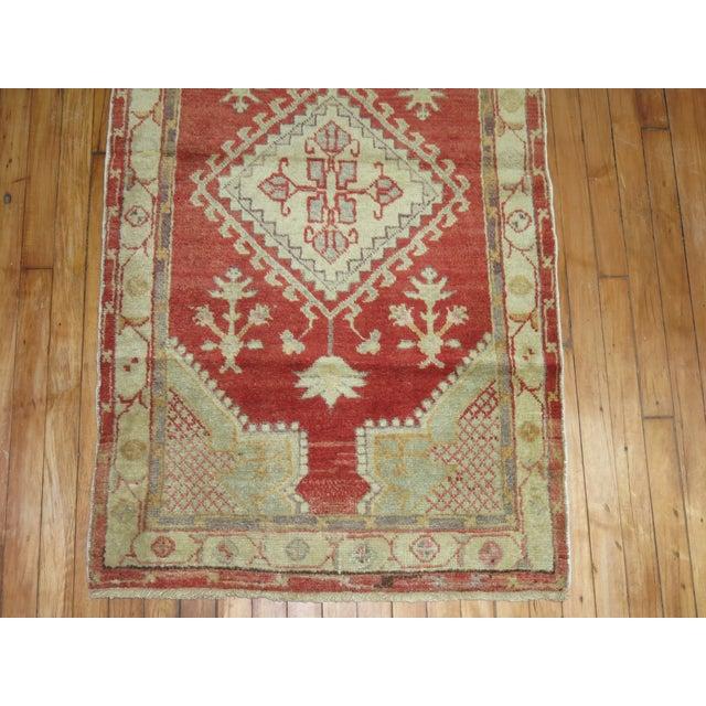 Vintage Beige & Red Oushak Rug - 2'9'' X 4'10'' - Image 3 of 3