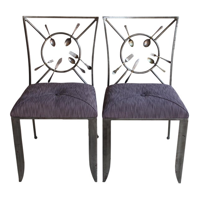 "Randall Kramer ""Silverware"" Chairs - A Pair - Image 1 of 8"
