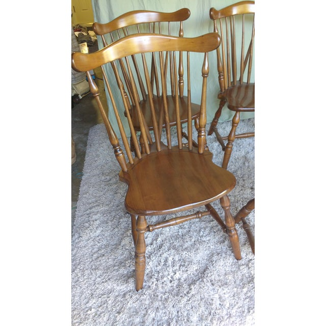 Antique Heirloom Fiddle Back Chairs - Set of 8 - Image 7 of 7