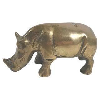 Brass Rhinoceros Figurine