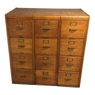 Antique Tiger Oak File Cabinet
